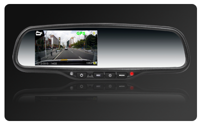 OEM Style DVR HD1080P rear view mirror recorder, 1080P Dash cam system installation