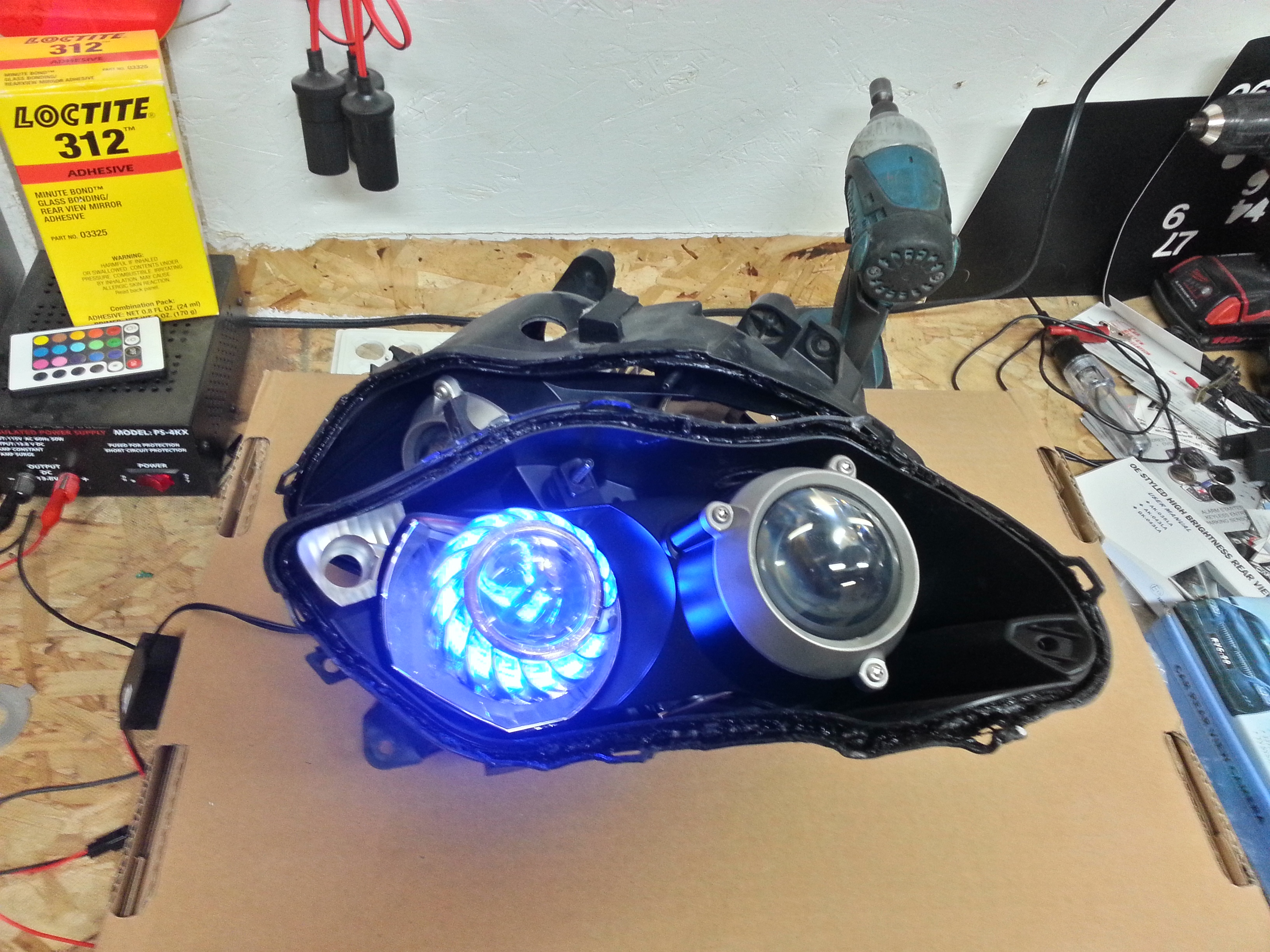MOTORCYCLE HID PROJECTOR WITH ANGLE EYE